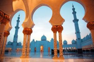 Die Scheich-Zayid-Moschee in Abu Dhabi