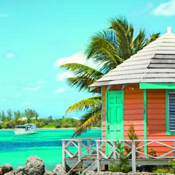 Hütte am Strand, Nassau, Bahamas