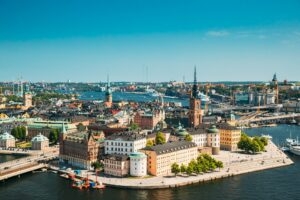 Stockholm, Sweden. Riddarholm Church, The Burial Place Of Swedish Monarchs On The Island Of