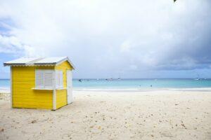 beach hut, barbados