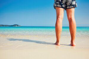 Vacation on the idyllic beach